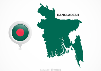 Free Vector Bangladesh Flag Map Pointer - Free vector #385363