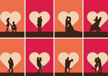 Romantic Illustration Set - vector #385393 gratis