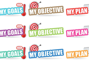Goals Titles - Free vector #385613