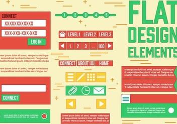 Free Web Design Vector Elements - vector gratuit #385773