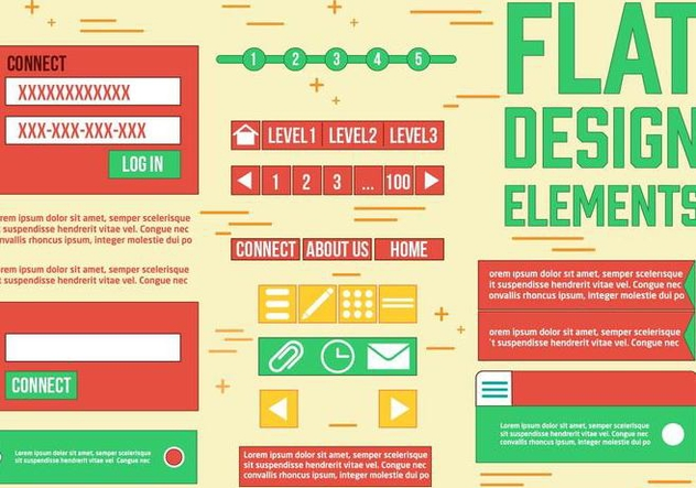 Free Web Design Vector Elements - Free vector #385773