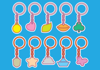 Vector Shape Key Chain Icons - Free vector #385813