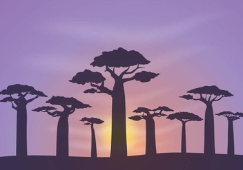 Free Baobab Background Vector - Free vector #385973