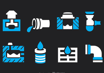 Sewage Icons Vector Set - бесплатный vector #386213