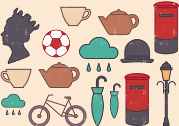 Britain Icons Set - vector #386333 gratis