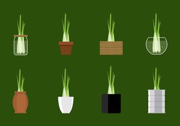 Lemongrass Plant Vector - vector gratuit #386353