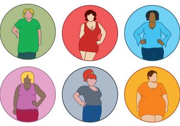 Fat Women Vector - Free vector #386473