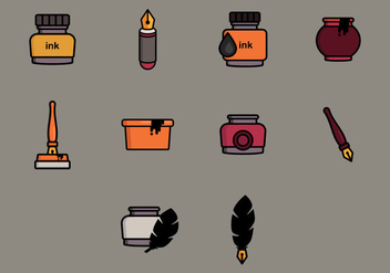 Ink Pot Icon - Free vector #386603
