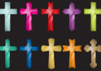 Colorful Crosses - Free vector #386803