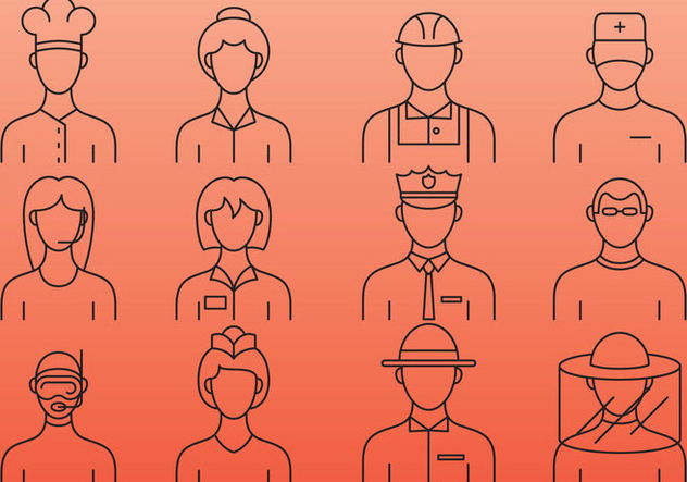 Professionals Line Icons - Free vector #386843