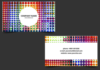 Free Vector Bright Business Card - Kostenloses vector #386903