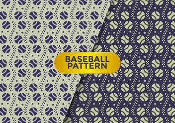 Baseball Pattern Vector - Free vector #387333