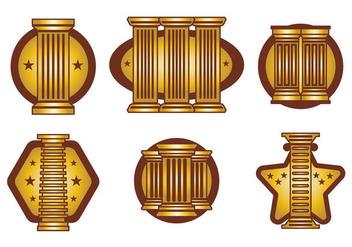 Roman Pillar Vector - бесплатный vector #387533