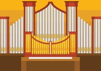Pipe Organ Vector illustration - Kostenloses vector #387593