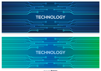 Technology Abstract Banners - бесплатный vector #387613