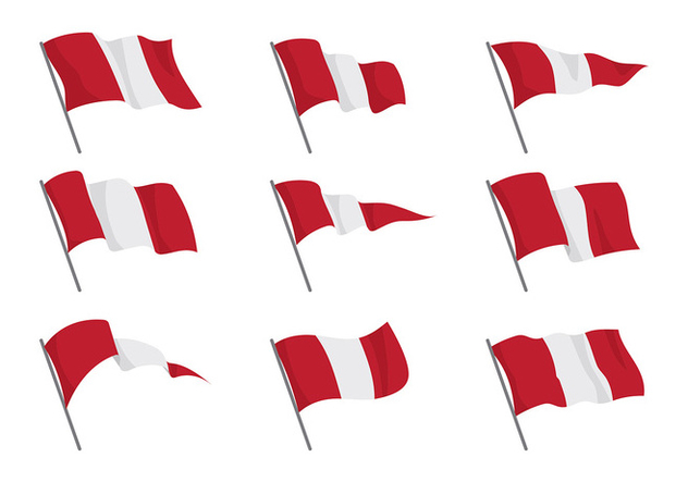 Peru Flag Vectors - бесплатный vector #387683