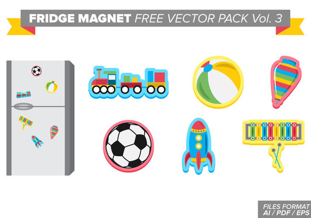 Fridge Magnet Free Vector Pack Vol. 3 - Kostenloses vector #387813