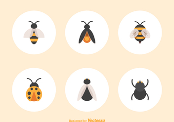 Free Flat Insect Vector Icons - Free vector #387833