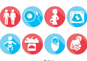 Pregnant Icons Vector - бесплатный vector #387863