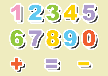 Fridge Magnet Number Vectors - vector gratuit #387883