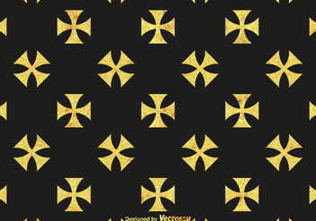 Free Golden Maltese Cross Vector Pattern - Free vector #388013