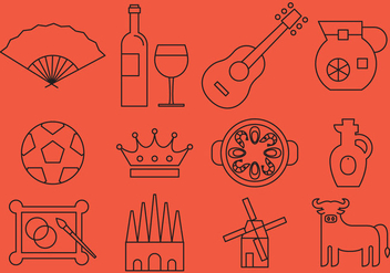 Spain Line Icons - Kostenloses vector #388243