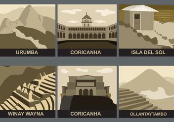 Incas Landmarks Vector - vector #388253 gratis