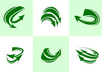 Green Flechas Vector - Free vector #388273