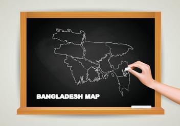Free Bangladesh Map Chalkboard - Free vector #388293