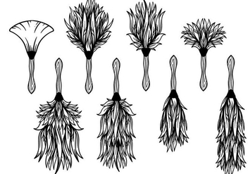 Free Feather Duster Vector - Kostenloses vector #388763