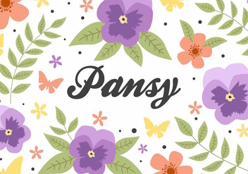 Free Flower Pansy Background Vector - Free vector #388963