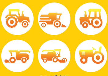 Tractors Circle Icons - vector gratuit #389003