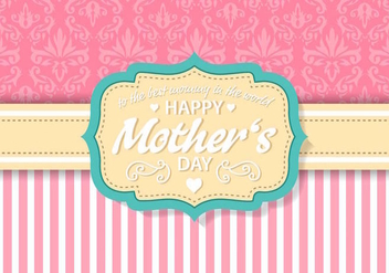 Free Vintage Mother's Day Card Vector - бесплатный vector #389063