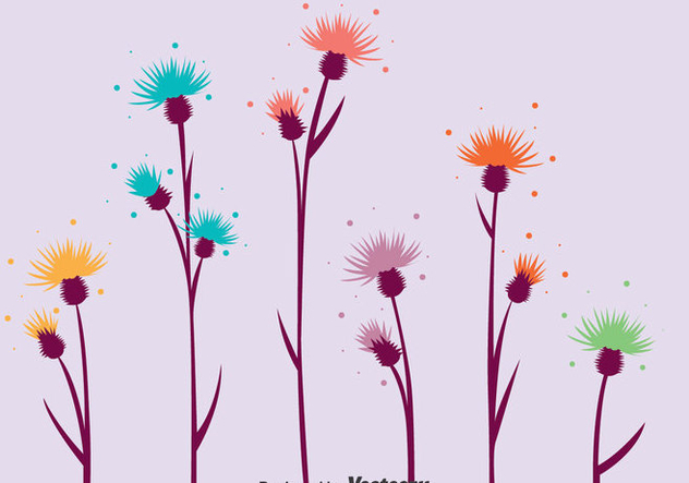 Colorful Thustle Vector - vector gratuit #389523