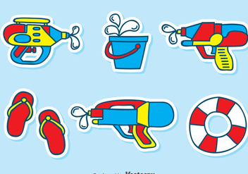 Playing Water Element Vector - Free vector #389663