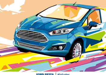 Ford Fiesta Popart Vector - Free vector #389673