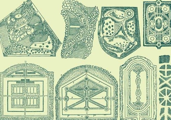 Floorplan Gardens - Free vector #389683
