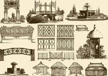 Vintage Garden Decoration - Free vector #389693