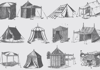 Garden Tents - бесплатный vector #389703
