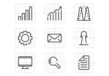 Diagram Line Icons - Kostenloses vector #389733