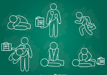 Emergency First Aid Hand Draw Vector - Kostenloses vector #389903