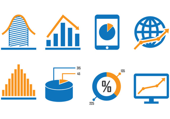 Business Diagram Icons - Free vector #389913