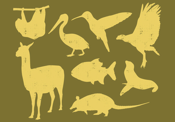 Animals of South America - vector gratuit #389933