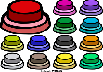 Collection Of Vector Hand-Drawn Arcade Buttons - Kostenloses vector #390083