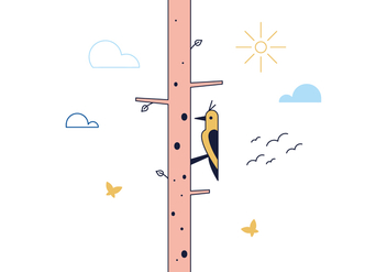 Free Woodpecker Vector - бесплатный vector #390203