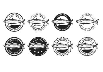 Free Mackerel Vector Badge - vector gratuit(e) #390493
