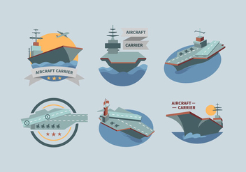 Aircraft Carrier Vector Pack - vector gratuit #390693