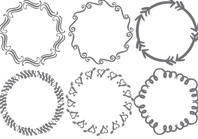 Hand Drawn Doodle Frames - Free vector #390703