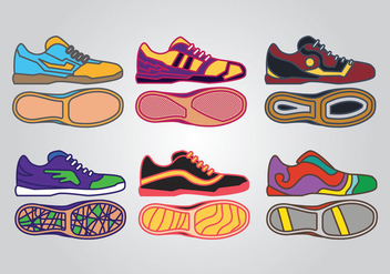 Futsal Shoes Vectors - Free vector #390733