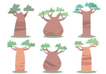 Baobab Vector Set - Kostenloses vector #390763